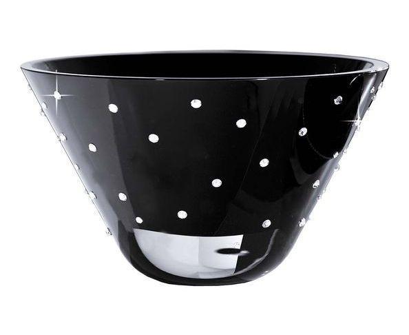 Coupe en cristal noir et transparent FINK