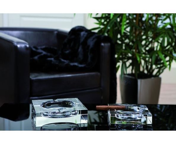 Cendrier à cigare en cristal