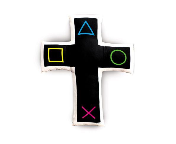 Coussin Cross Station en forme de croix d'AK-LH