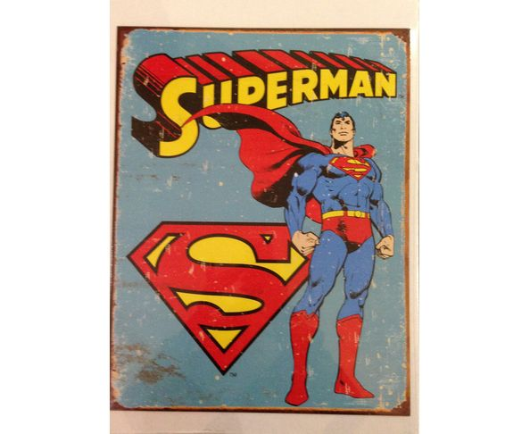 Superman old - Tôle imprimée U.S