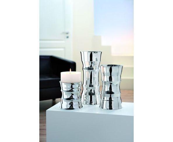 Vase en forme de bambou en argent