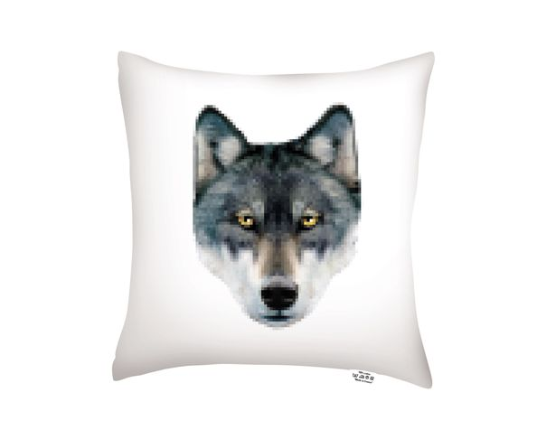 Coussin Deer / Wolf - 40x40 cm