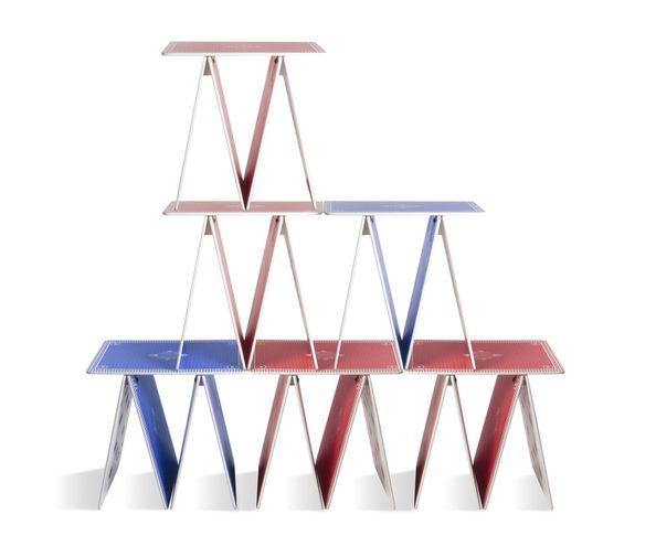 Table «à la carte» bleue - Seletti