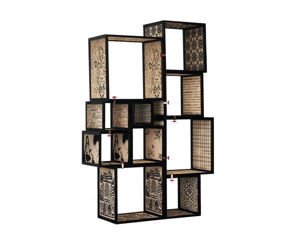 Biblioth que modulable s rigraphi e en bois assemblage seletti sur deco and me for Bibliotheque meuble moderne