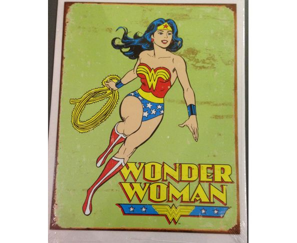 Wonder woman retro - Tôle imprimée U.S