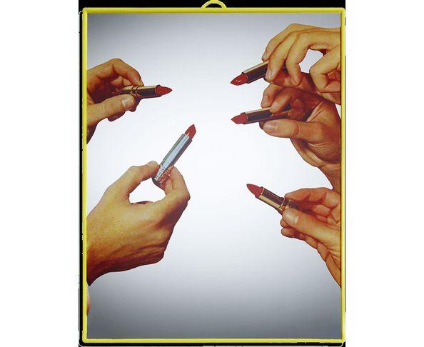Miroir Toilet Paper - Rouge à lèvres 30x40cm