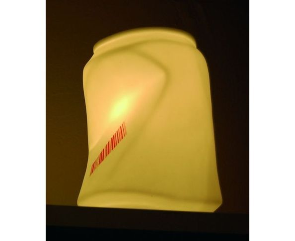 Lampe en porcelaine Canette
