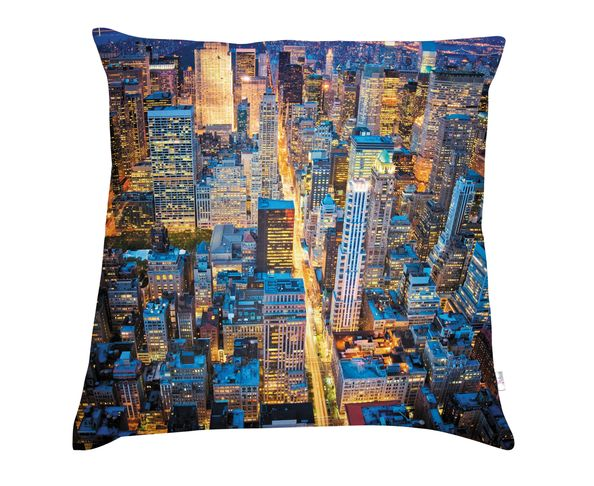 Coussin 40x40 cm - Manhattan night - Téo Jasmin