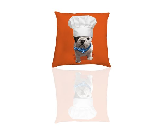 Coussin Teo Chef Orange - Téo Jasmin