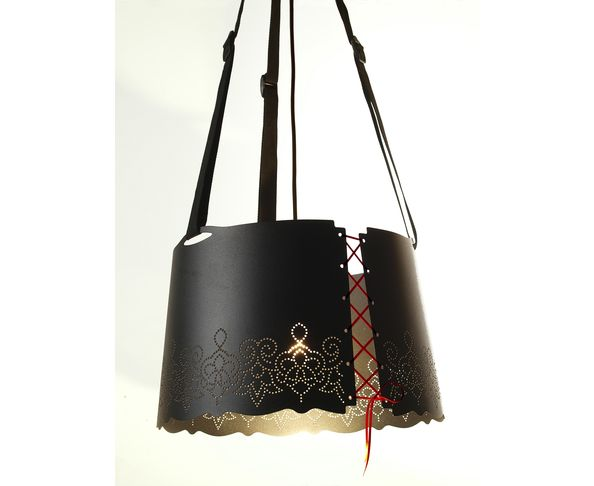Suspension - lustre Fat Lace Noire de Pulpo