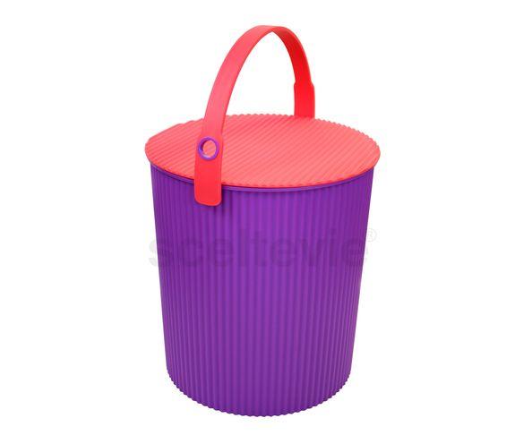 Tabouret - seau violet flashy - Hachiman