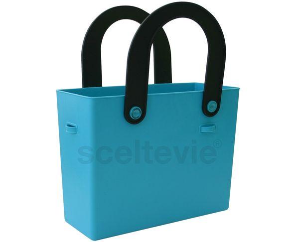 Sac en silicone bleu flashy - Hachiman