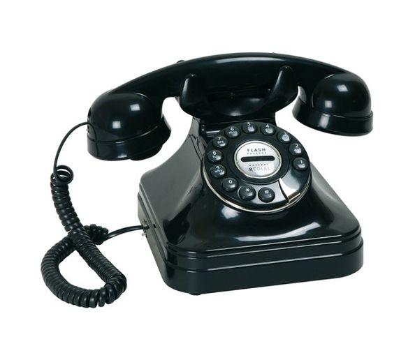 Téléphone Chicago Noir Francais - La Chaise Longue
