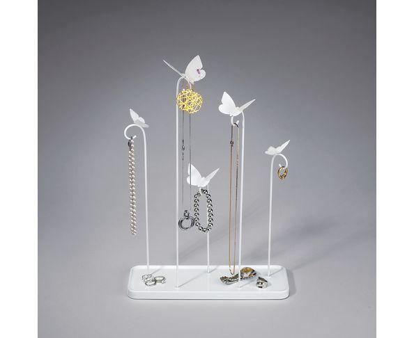 Arbre à bijoux Papillon blanc