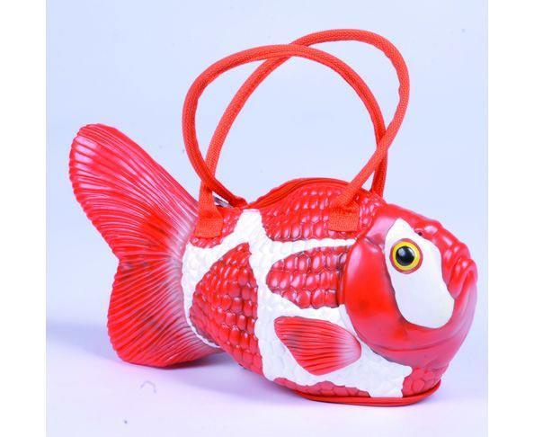 Sac à main poisson rouge