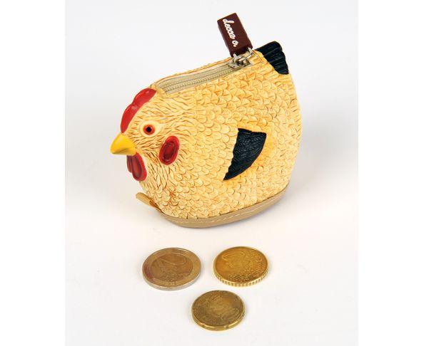 Porte monnaie cocotte/poule
