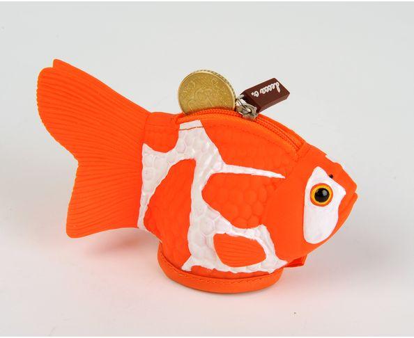Porte monnaie poisson rouge