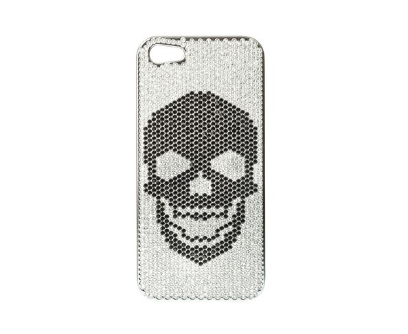 Coque iPhone5 Swarovski - SKULL TOTAL BLACK - 2ME STYLE