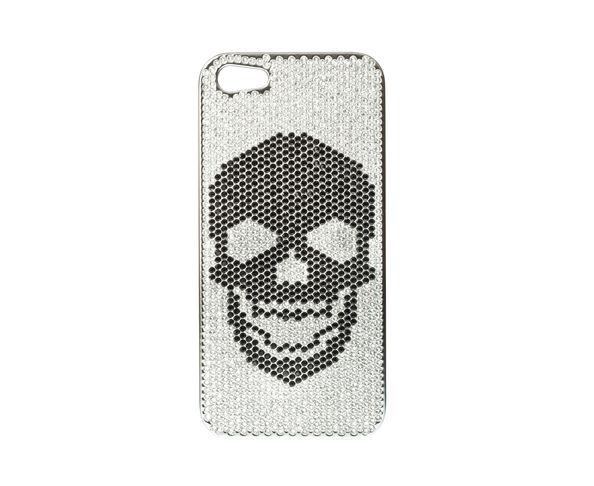 Coque iPhone5 Swarovski - SKULL TOTAL BLACK - 2ME STYLE
