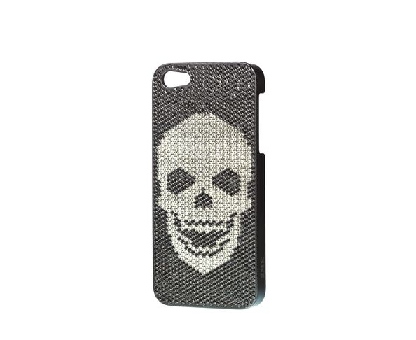 Coque iPhone5 Swarovski - SKULL BLACK DIAMOND - 2ME STYLE