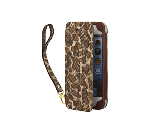 Coque iPhone5 en cuir pochette phyton sparkling - 2ME STYLE