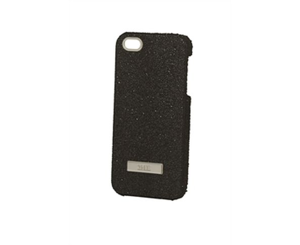 Coque iPhone5 Swarovski - CRYSTAL FABRIC BLACK, SILVER FINISHING - 2ME STYLE