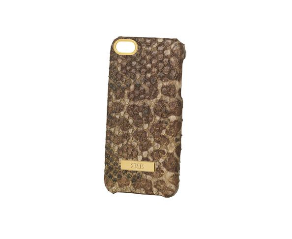 Coque iPhone5 en cuir finition Phyton sparkling dorée - 2ME STYLE