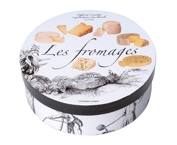 Coffret de 6 Assiettes Les Fromages - La Chaise Longue