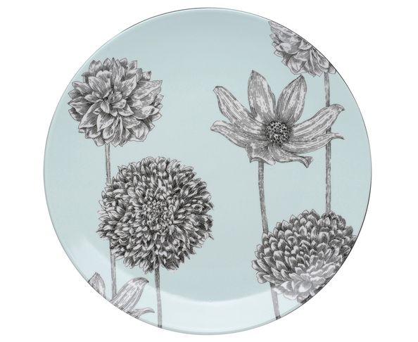 Coffret de 6  Assiettes Plates Botanica - La Chaise Longue