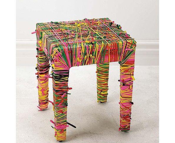 Tabouret ballons de baudruche - Baloona stool confetti - de Nathalie Kruch