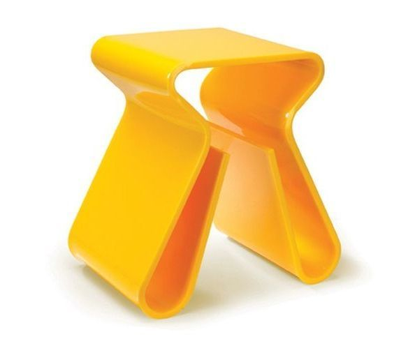 Tabouret range magazine jaune - Magino Stool Yellow