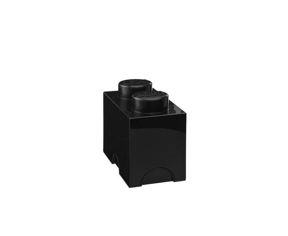 Boite de rangement Lego 2 plots - Noir