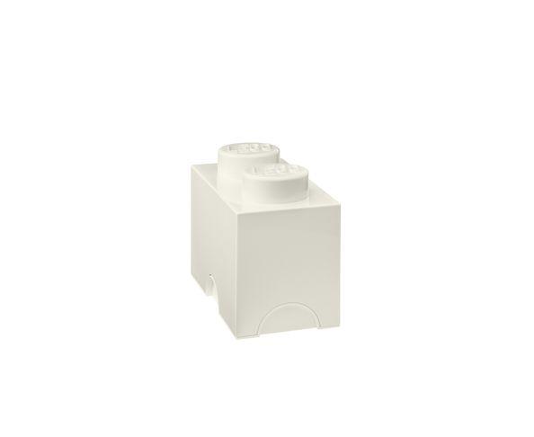 Boite Lego Blanc rangement 2 plots