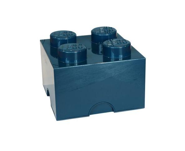Boite Lego Bleu Pétrole 4 plots