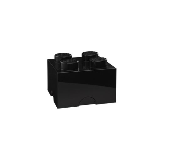 Boite de rangement Lego 4 plots - Noir