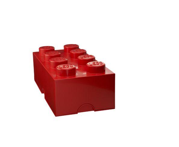 Boite de rangement Lego Rouge 8 plots