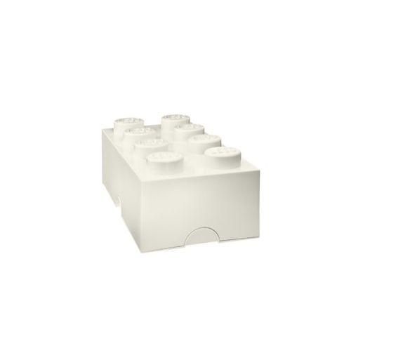 Boite Lego Blanc rangement 8 plots