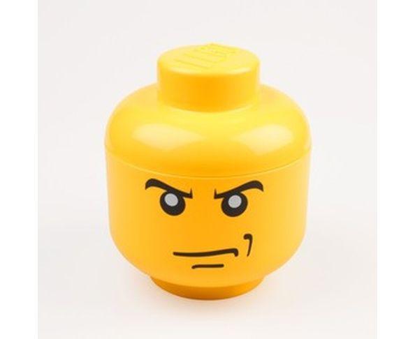 Tête Lego Angry Boite de rangement - Jaune Petit Modèle
