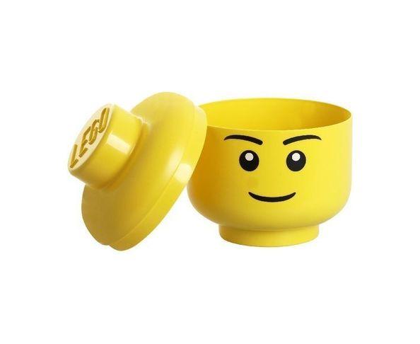 Tête Lego Garcon Boite de rangement - Jaune Petit Modèle