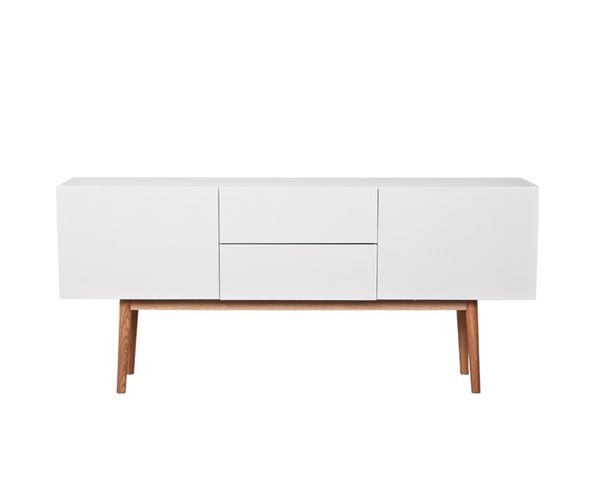 Commode buffet High on Wood 2DR 2DO (2 tiroirs, 2 portes) - Zuiver