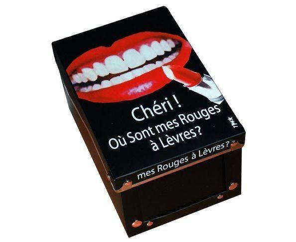"""Boîte """"Chéri Ou sont mes rouges à lèvres ?"""""""