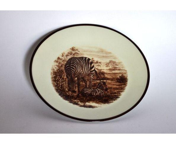 Assiette à pain porcelaine Kenya Maison de Famille
