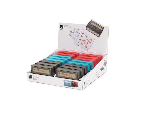 Jeu de cartes en forme de cassette Rouge