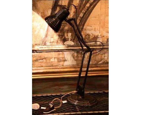 Lampe de bureau en laiton vieilli - Chehoma
