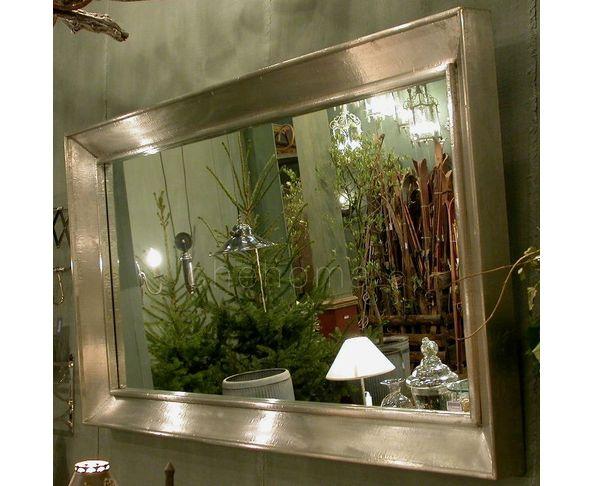 Miroir deco 90x140 en feuille d'étain - Chehoma