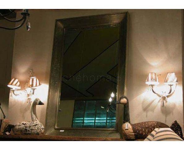 Miroir métal argenté 95 x 145 - chehoma