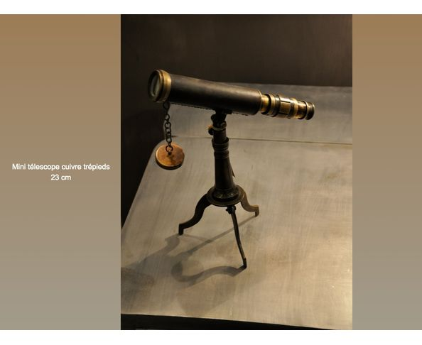 Mini telescope cuivre trepieds - Chehoma