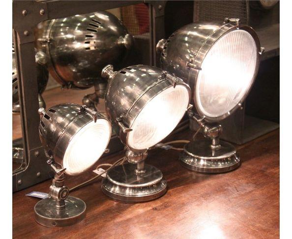 Lampe Silverstone Diam. 24 cm nickel - Chehoma