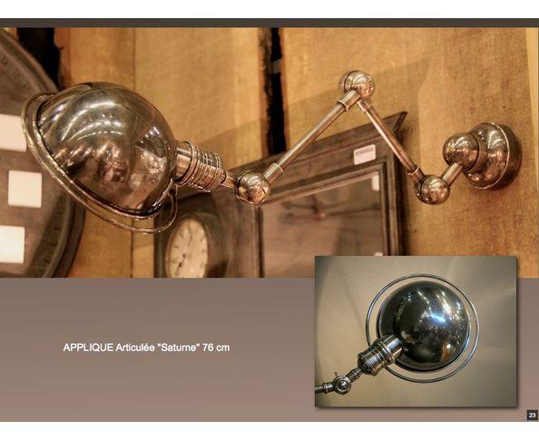 Applique industrielle Saturne articulée en métal - Chehoma