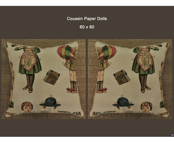 Coussin Paper Dolls